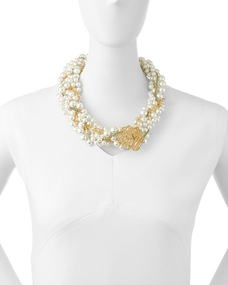 moon and lola southern living pearly monogram necklace