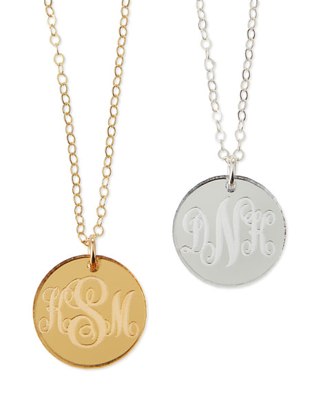 Moon and Lola Providence Mirrored Acrylic Reverse Monogram