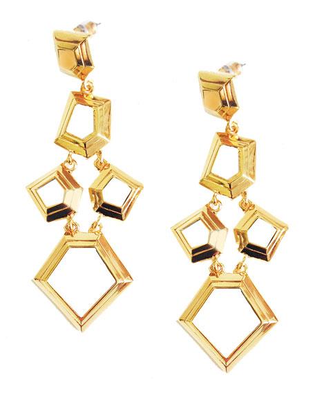 Faceted Chip Chandelier Earrings