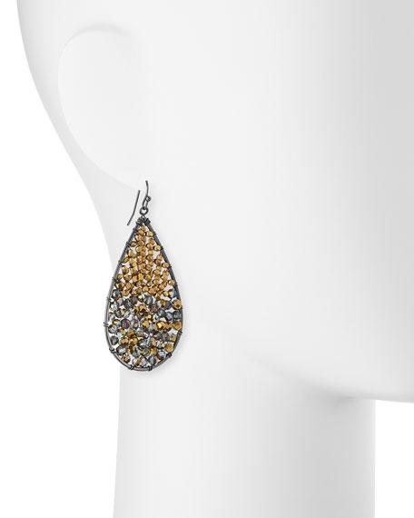 Beaded Crystal Teardrop Earrings