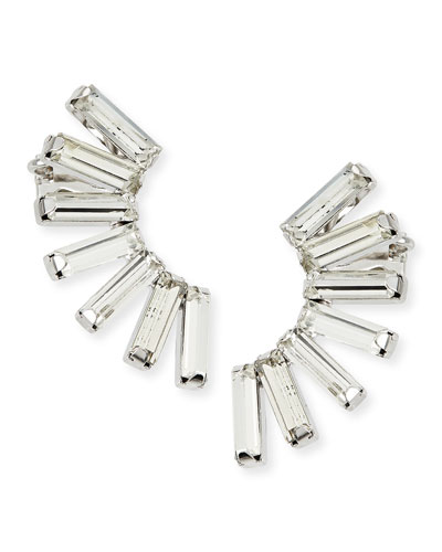Baguette Crystal Earring Cuffs