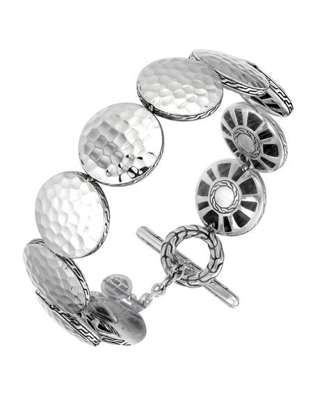 Palu Silver Medium Round Disc Bracelet