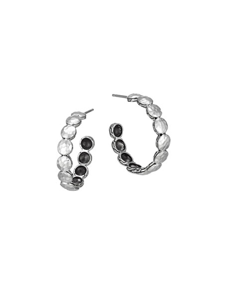 John Hardy Palu Silver Disc Small Hoop Earrings