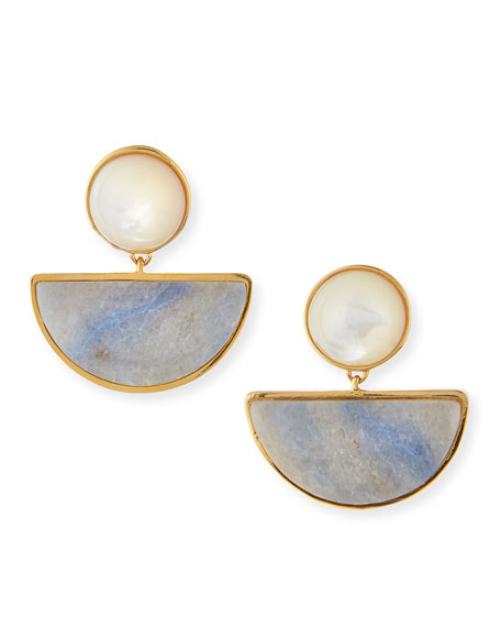 Lizzie Fortunato Geometry Quartzite Drop Earrings