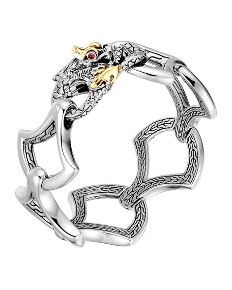John Hardy Naga Gold Amp Silver Large Link Bracelet Neiman