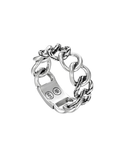 Classic Chain Silver Band Ring