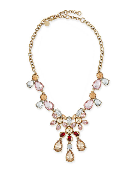 Golden Crystal Statement Necklace