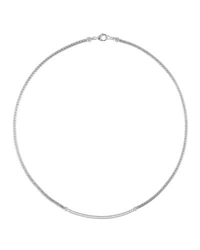 Diamond Station Mini Chain Necklace, 18