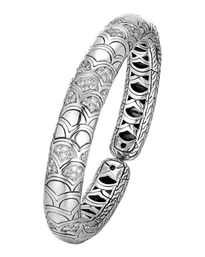 Naga Silver Slim Flex Cuff with Diamonds