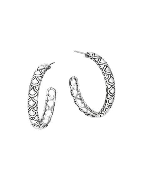John Hardy Naga Silver Large Hoop Earrings