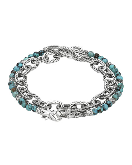 John HardyNaga Double Wrap Silver Link Bracelet with