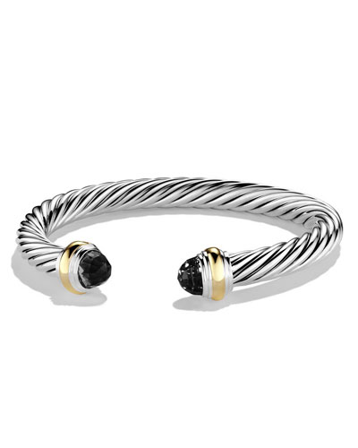 Cable Classics Bracelet with Onyx and Gold