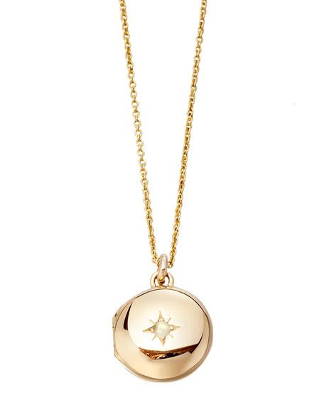 14k Gold Little Astley Locket Necklace
