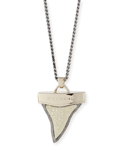 Stingray Layered Shark Tooth Necklace