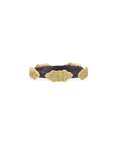 Stackable Champagne Diamond Scroll Ring
