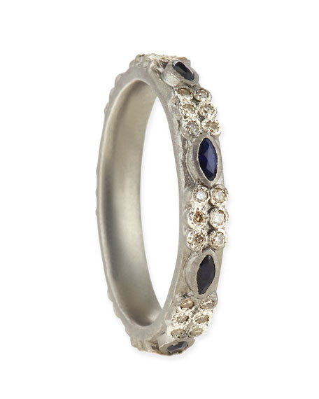 Champagne Diamond & Sapphire Stackable Ring