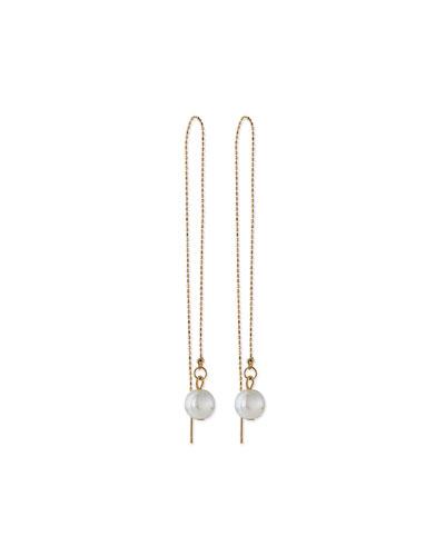 Simulated Pearl Thread Earrings