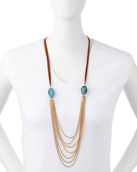 Suede Multi-Chain Necklace