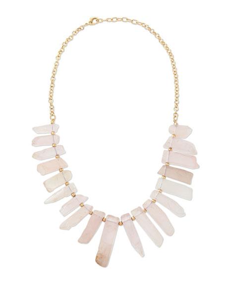 Graduated Rose Quartz Necklace, Pink