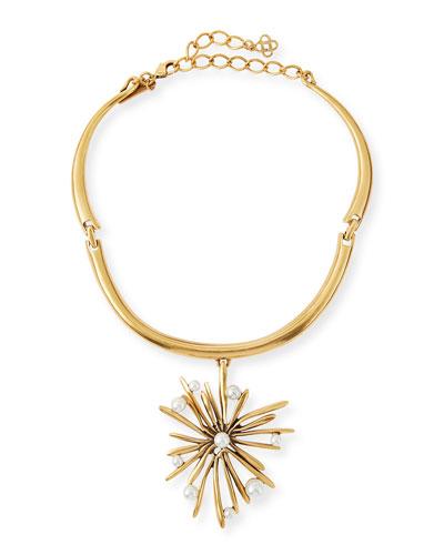 Golden Starburst Necklace