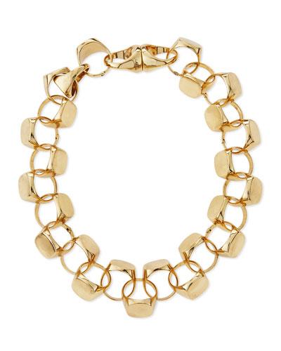 Brass Signet Necklace