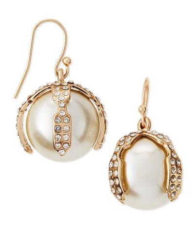 Bloom Simulated Pearl Earrings