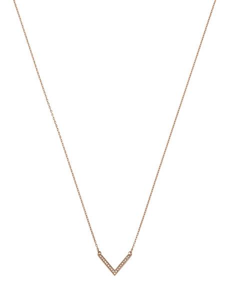 Michael Kors Rose Golden Pave Arrow Pendant Necklace