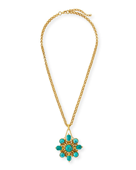 Jose & Maria Barrera 24k Gold Plated Turquoise