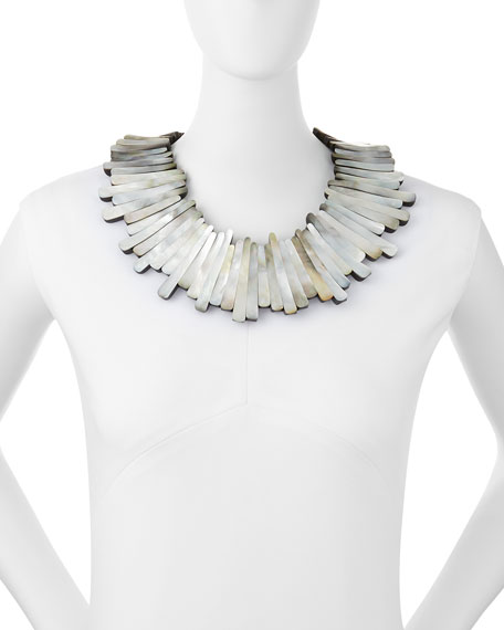 Image 2 of 2: Mother-of-Pearl Statement Collar
