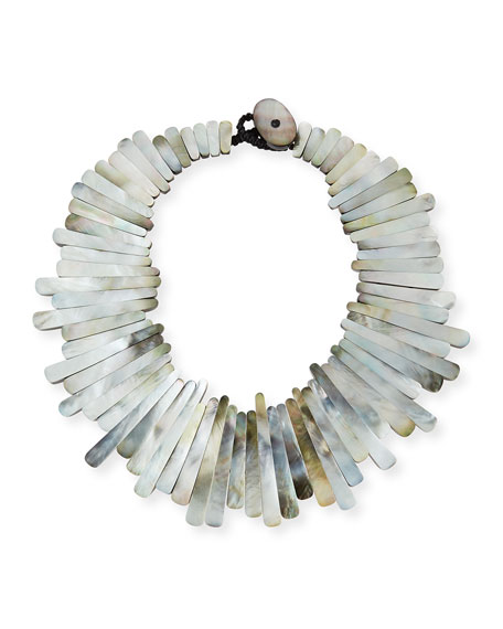 Image 1 of 2: Mother-of-Pearl Statement Collar