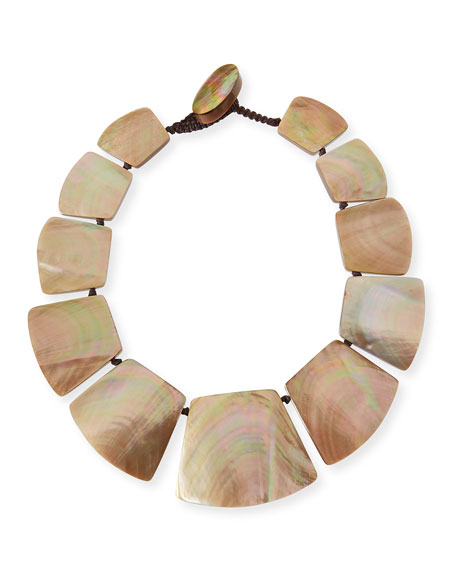 Freeform Shell Collar Necklace