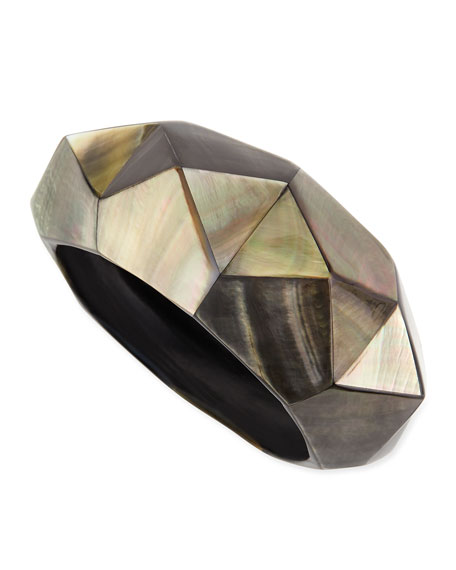 Pyramid Mother-of-Pearl Bangle