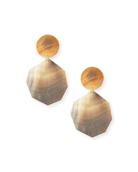 Double Drop Mother Of Pearl Earrings by Viktoria Hayman