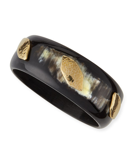 Wadi Dark Horn Bangle Bracelet