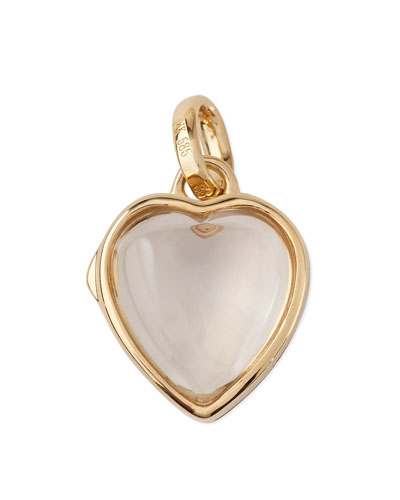 14k Gold Small Heart Locket, 12mm