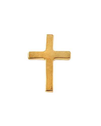 18k Gold Cross Charm