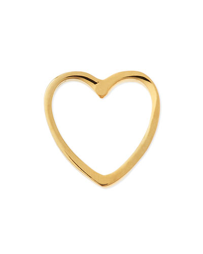 18k Gold Heart Charm for Locket