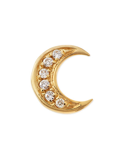 18k Gold Diamond Moon Charm for Locket