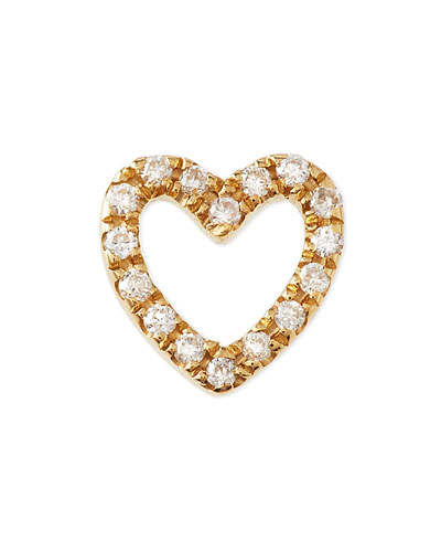18k Gold Diamond Heart Charm for Locket