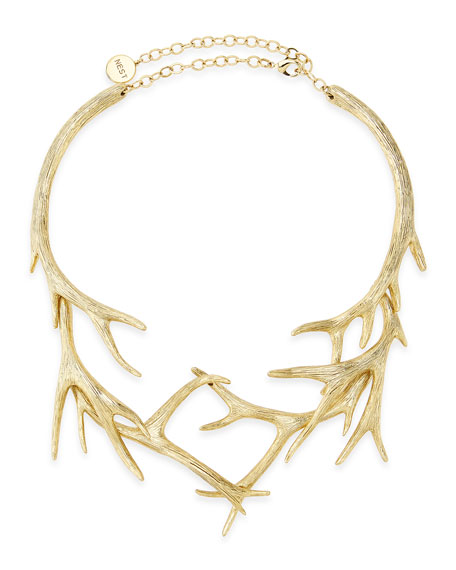 ANTLER COLLAR IN GOLD