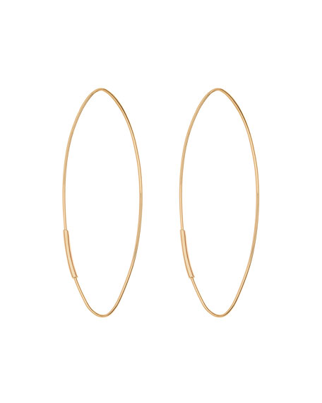 14k Straight Magic Large Hoop Earrings