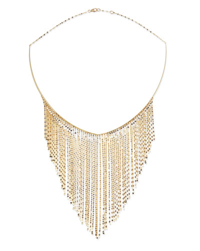 14k Gold Fringe Choker Necklace