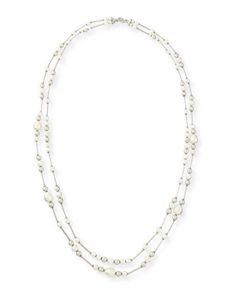 Jose & Maria Barrera Double-Strand Simulated-Pearl Necklace