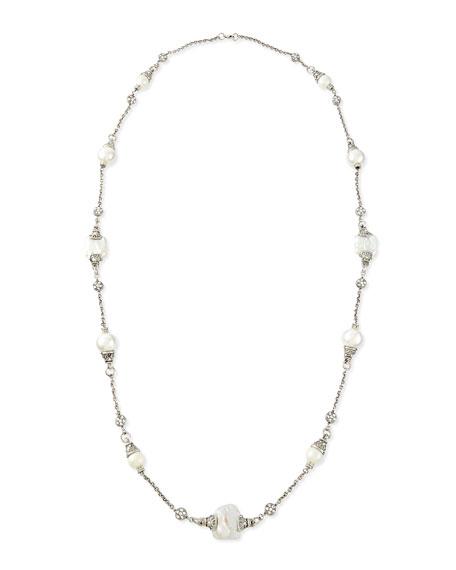 Jose & Maria Barrera Simulated-Pearl Single-Strand Necklace
