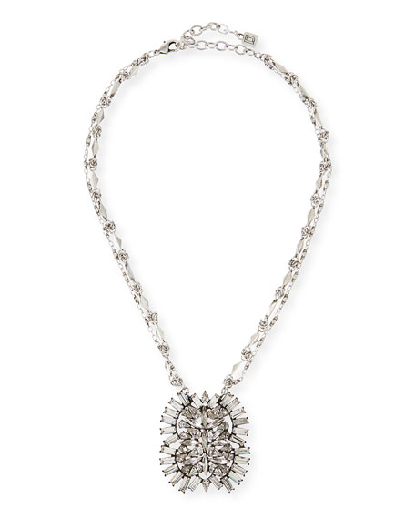 Dannijo Lila Crystal Pendant Necklace