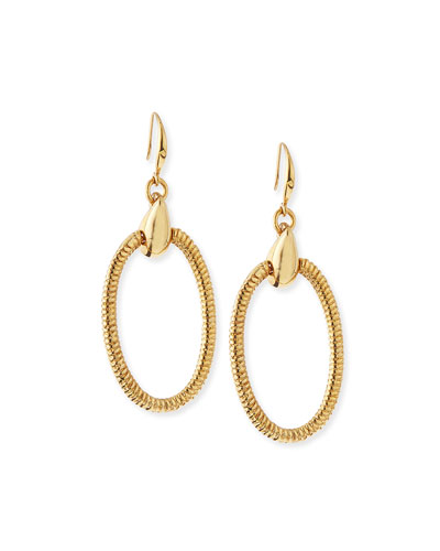 Gemma Oval Drop Earrings