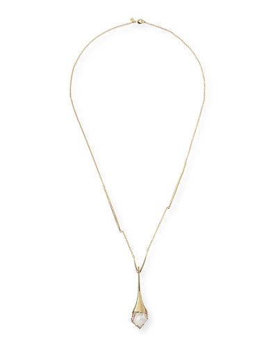 Suspended Crystal Pendant Necklace