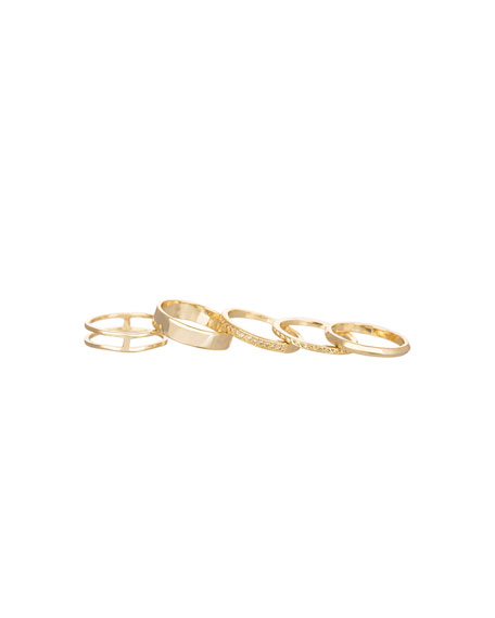 KARA GOLD SET 5 RINGS