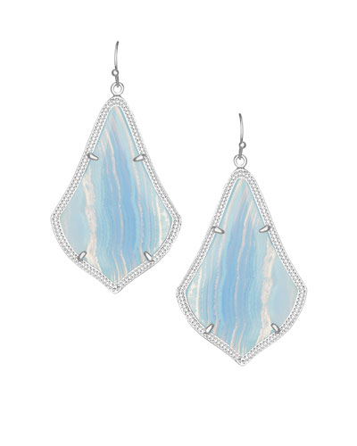 Alex Drop Earrings, Blue Lace Agate