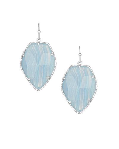 Corley Drop Earrings, Blue Lace Agate